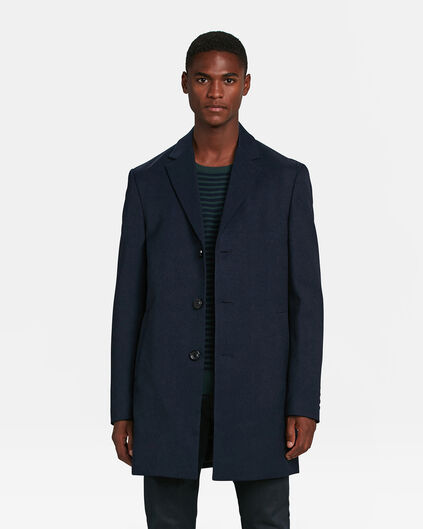 HEREN TOPCOAT Donkerblauw