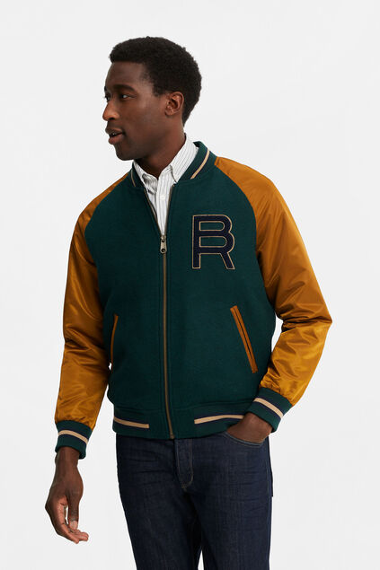 Heren baseball bomberjacket Groen