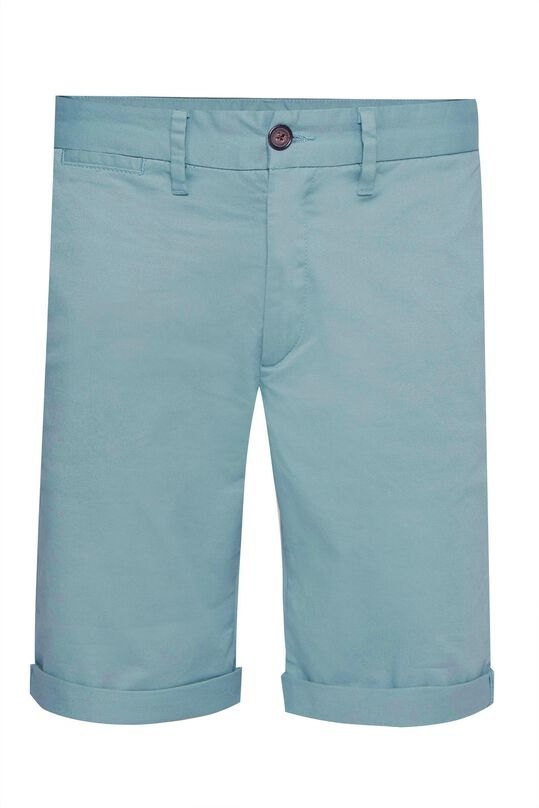 Heren slim fit chinoshort Grijsgroen