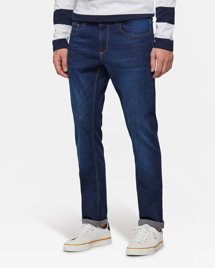 Heren regular fit comfort stretch jeans Donkerblauw