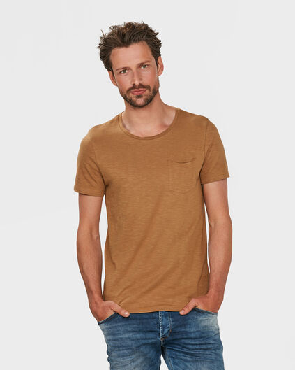 HEREN R-NECK T-SHIRT Cognac