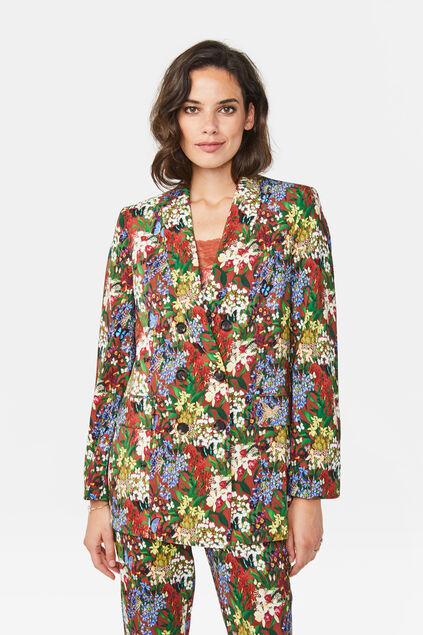 Dames regular fit blazer Multikleur
