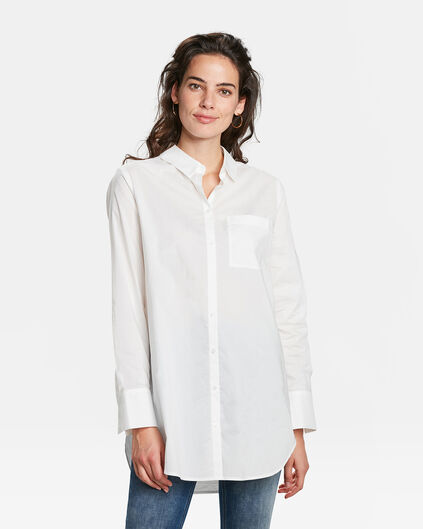 DAMES POPLIN BLOUSE Wit
