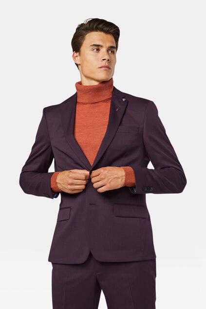 Heren regular fit blazer Tom Donkerpaars