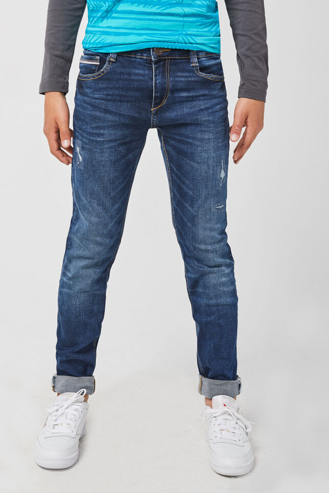 Jongens skinny fit jog denim jeans Marineblauw