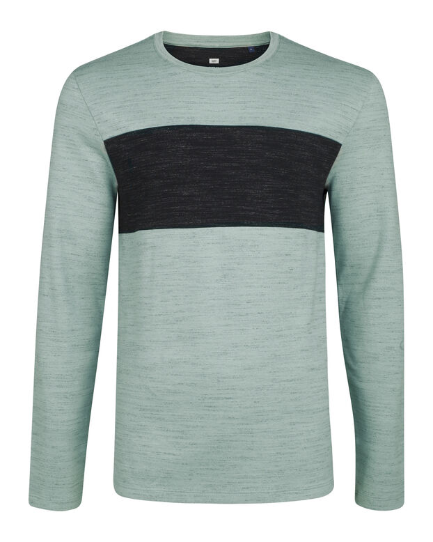 HEREN  COLOR BLOCK SHIRT Mintgroen