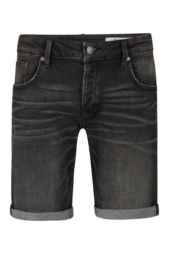 Heren regular fit jog denimshort Zwart