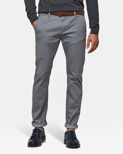 HEREN SKINNY FIT CHINO Grijs