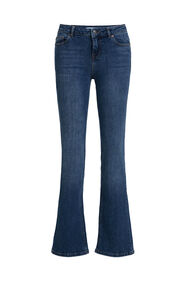 Dames mid rise bootcut jeans_Dames mid rise bootcut jeans, Blauw