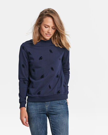 DAMES COL NECK SWEATER Marineblauw
