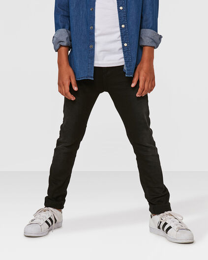 JONGENS SUPER SKINNY POWER STRETCH JEANS Zwart