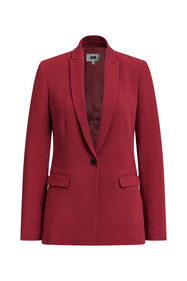 Dames regular fit blazer_Dames regular fit blazer, Donkerrood
