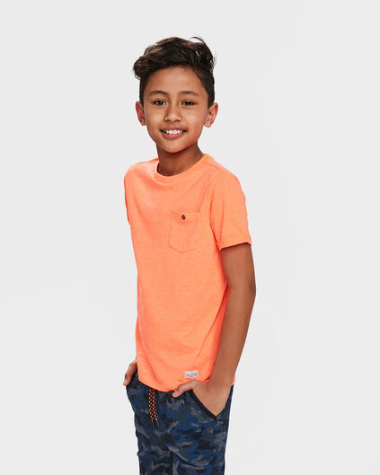 JONGENS ONE POCKET R-NECK T-SHIRT Roze