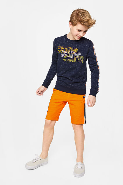 Jongens sweat short met tapedetail Oranje