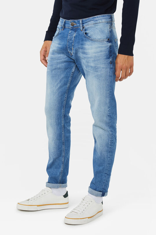 Heren slim fit jeans Lichtblauw