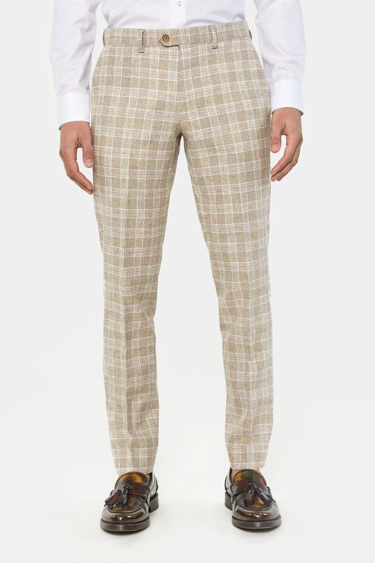 Heren regular fit geruite pantalon Clinton All-over print