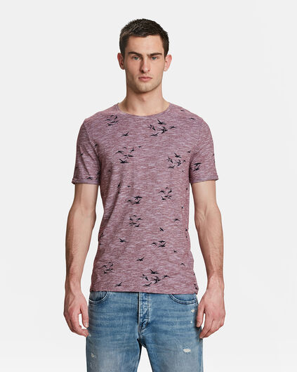 HEREN BIRD PRINT T-SHIRT Rood