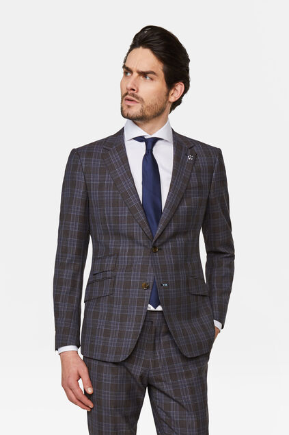 Heren slim fit blazer Trapani All-over print