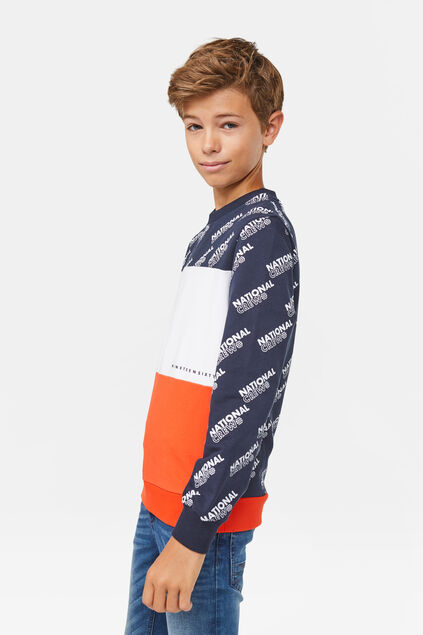 Jongens national crew sweater Marineblauw