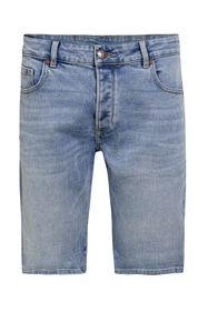 Heren regular fit denimshort_Heren regular fit denimshort, Lichtblauw