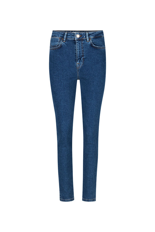 DAMES HIGH RISE SLIM JEANS Donkerblauw