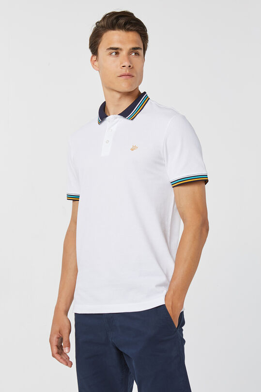 Heren structuur polo Wit