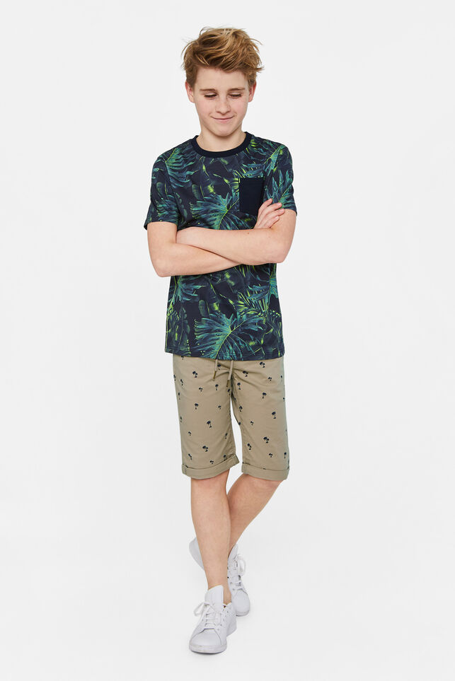 Jongens chino short met dessin All-over print
