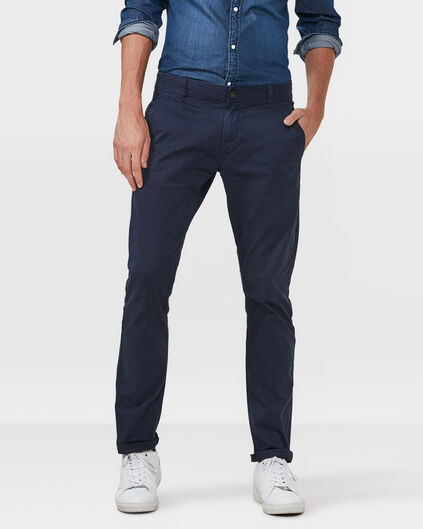 HEREN SLIM FIT CASUAL CHINO Marineblauw