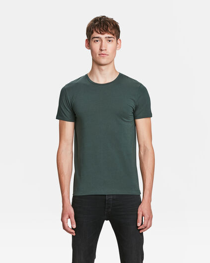 HEREN ORGANIC COTTON T-SHIRT Donkergroen