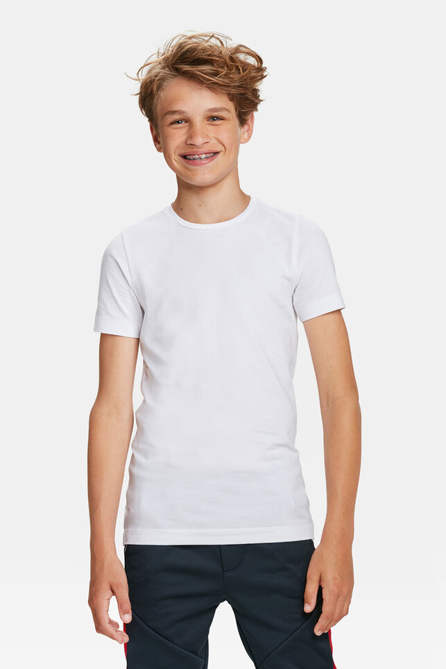Jongens basic T-shirt Wit