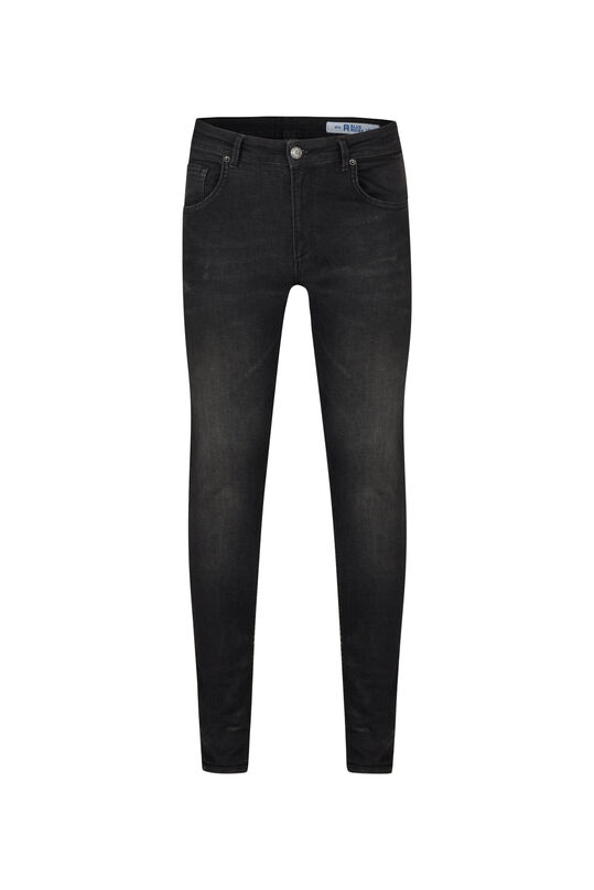 Heren super skinny comfort stretch tapered jeans Zwart