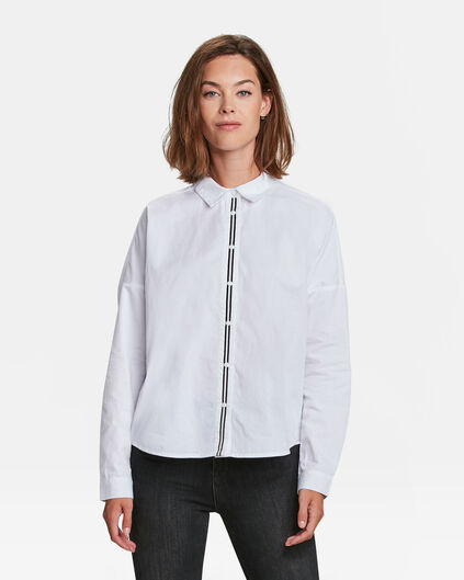 DAMES SPORTY STRIPE BLOUSE Wit