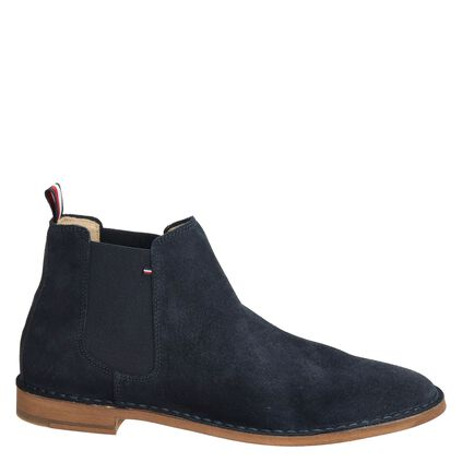 Tommy Hilfiger Th Dress Casual Sued heren boot Blauw