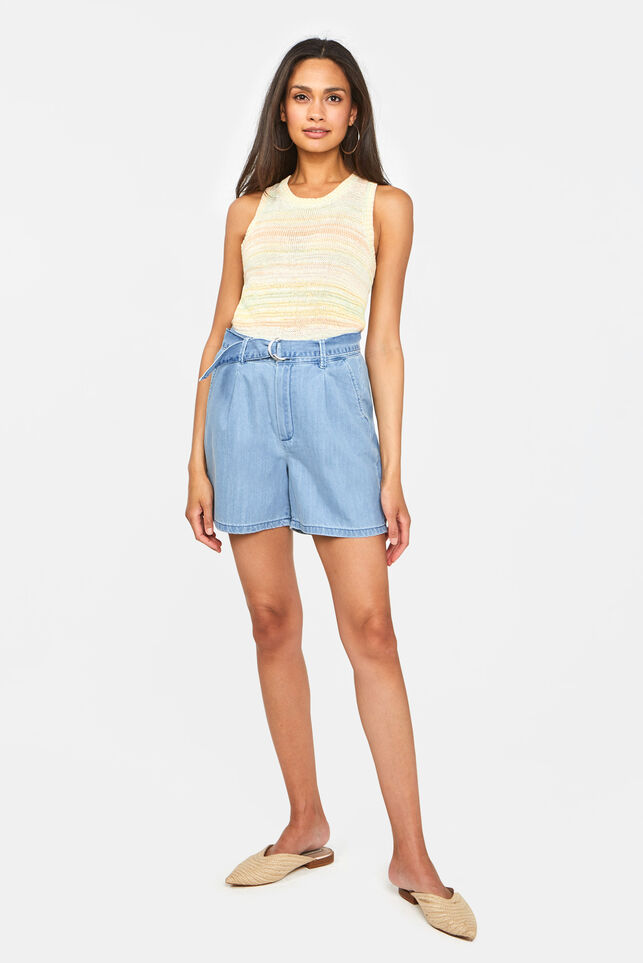 Dames high waist short Lichtblauw