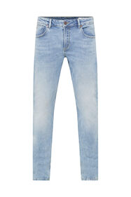 Heren regular fit jog denim jeans_Heren regular fit jog denim jeans, Lichtblauw