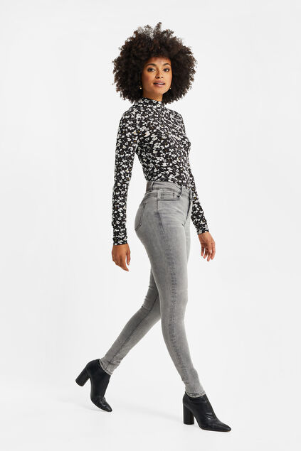 Dames superskinny jeans met super stretch Grijs