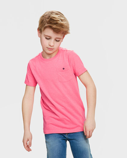 UNISEX KIDS ONE POCKET T-SHIRT Roze