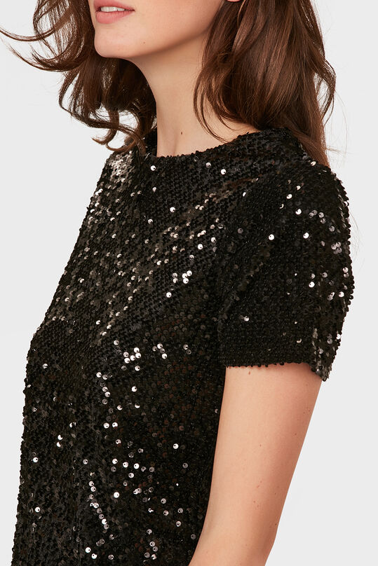 WE X NINA DAMES SEQUIN DRESS Zwart