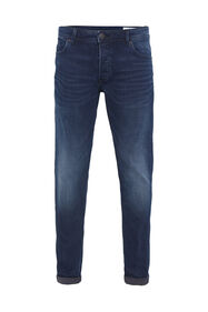 Heren skinny fit jeans met superstretch_Heren skinny fit jeans met superstretch, Donkerblauw