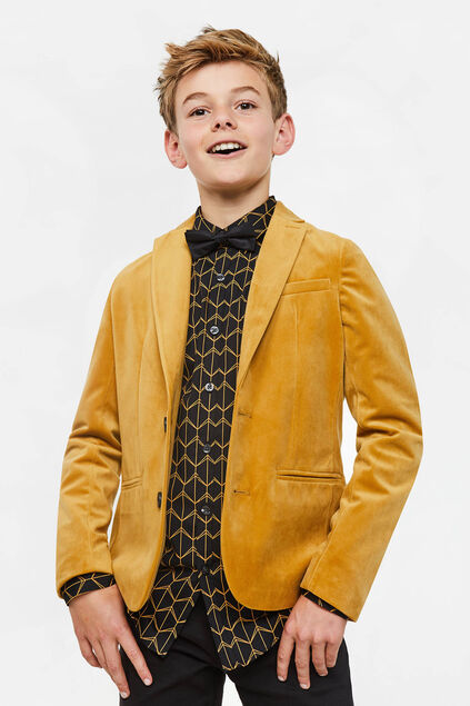 Jongens regular fit blazer Goud