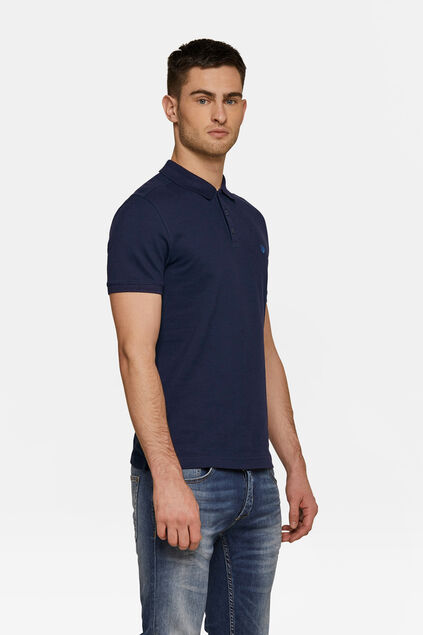 Heren organic cotton pique polo Donkerblauw