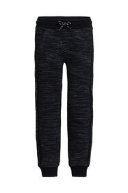 Jongens joggingbroek met tapedetail_Jongens joggingbroek met tapedetail, Zwart