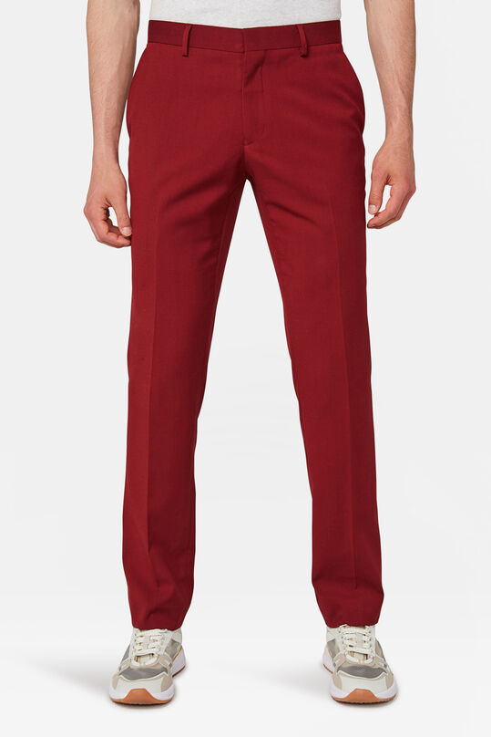 Heren slim fit pantalon Dali Rood
