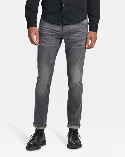 HEREN SLIM TAPERED COMFORT STRETCH SELVEDGE JEANS Grijs