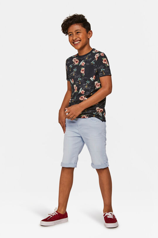 Jongens denim short Lichtblauw
