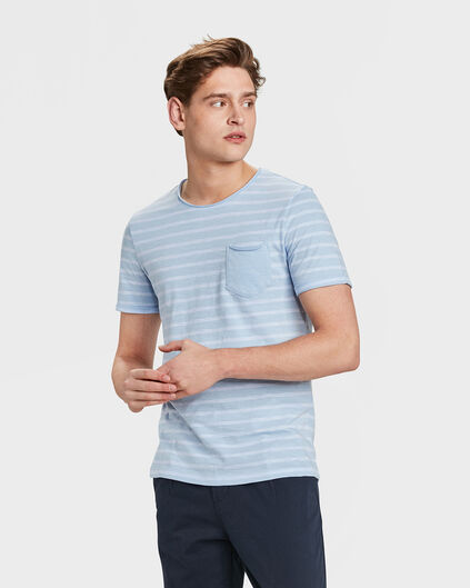 HEREN STRIPE T-SHIRT Lavendel