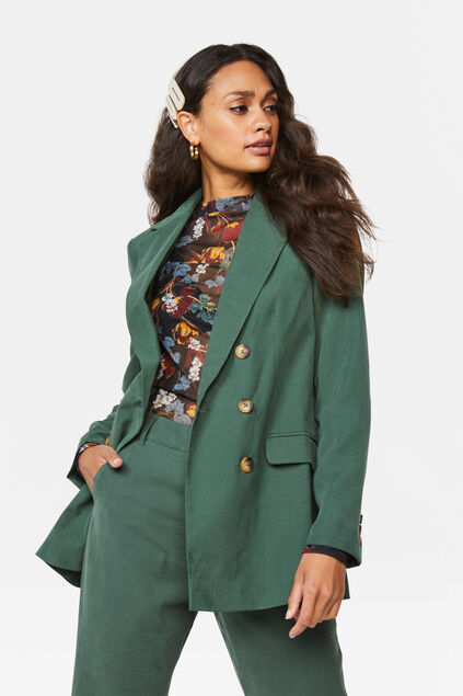 Dames loose fit blazer Groen