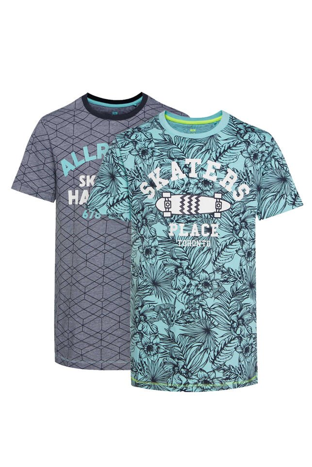 Jongens 2-pack T-shirt All-over print