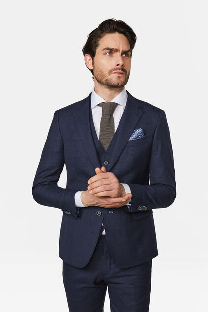Heren slim fit blazer Tarente Marineblauw