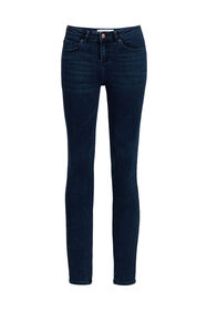 Dames super skinny jeans van super stretch_Dames super skinny jeans van super stretch, Donkerblauw